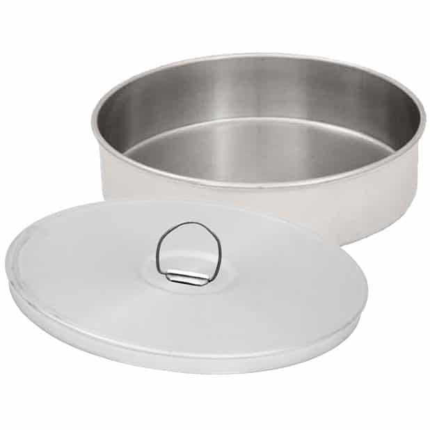 Stainless Steel Sieve Pans and Covers